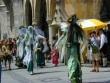 Figures on stilts