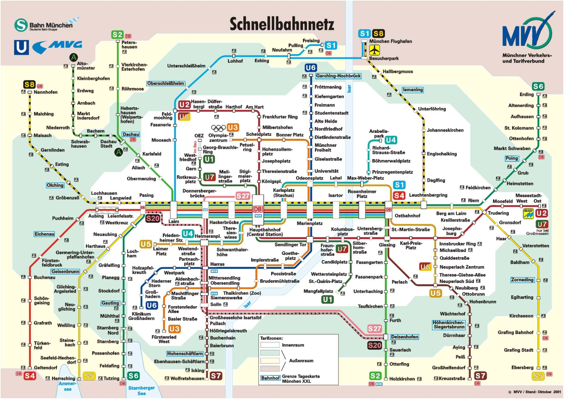 Munich MVV Map The Original Munich City Guide - Bus map munich